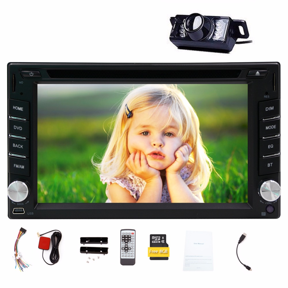 6.2 Inch 2 Din Autoradio Double din Car DVD Player GPS Navigation Car Stereo Car PC Head Unit Bluetooth Free Wireless Rear Camer(China (Mainland))