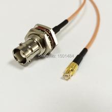 Nueva BNC Hembra Jack Interruptor Conector Macho MCX Plug Convertidor RG316 Nave Al Por Mayor Fast 15 CM 6 «Adaptador