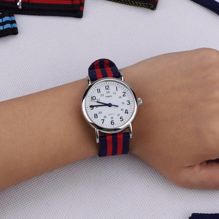 NATO Strap 18mm 20mm 22mm 24mm military nylon strap two Style nylon watch band Navy White Red stripe Watchband 20 mm