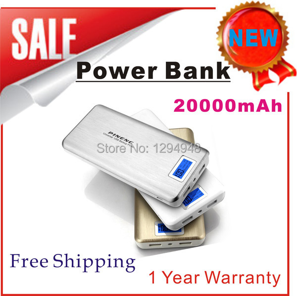 100% Original Pineng Power Bank PN-999 Super High Capacity 20000mAh Dual Micro USB Charger Mobile Power for Smartphones Tablets(China (Mainland))