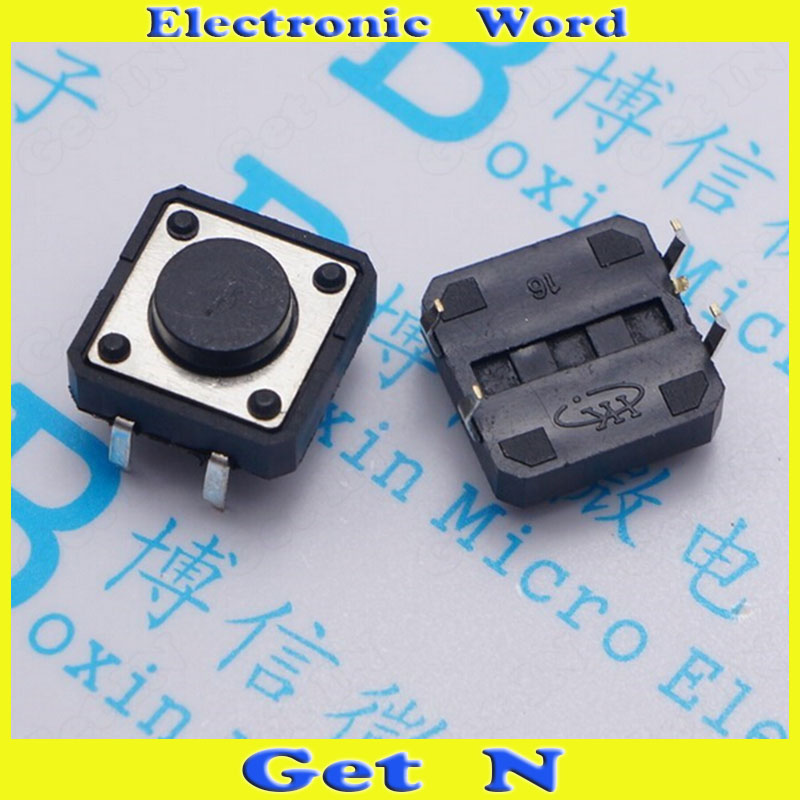 1000pcs 12*12*5mm Upright Type Tact Switch 4-Pin Tactile Switch with Imported<br><br>Aliexpress