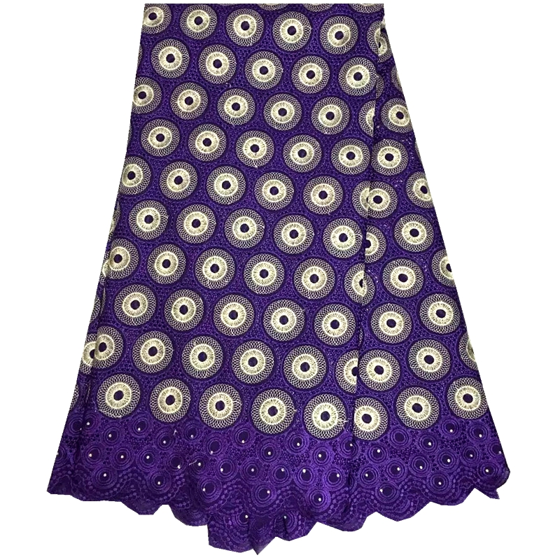 Free Shipping Purple Color African swiss voile lace high quality.Wedding lace African Fabric 5Yards 100% Cotton Swiss Voile Lace(China (Mainland))
