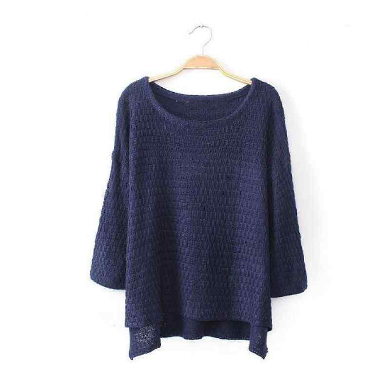 107013642 new kernels baggy Turtleneck knit sweater-in Pullovers from Women
