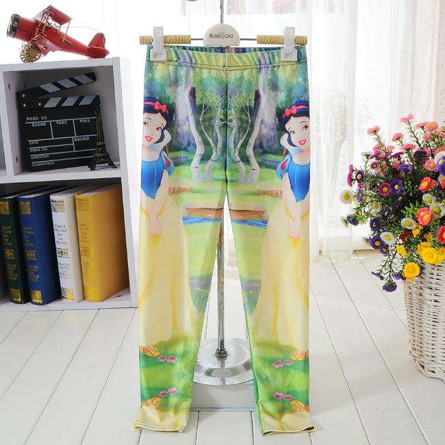 Enfant été style enfants leggings pour filles legging garçons pantalon meninas leggins blanche - neige et les nains bambini garçon pantalons legings(China (Mainland))