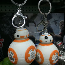 1PCS 7CM Star Wars The Force Awakens BB8 BB-8 R2D2 Droid Robot Action Figure Star Wars BB 8 BB-8 Keychain Strap New Year Toys