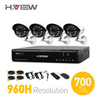 4CH CCTV System 960H CCTV DVR HDMI 4PCS 700TVL IR Weatherproof Outdoor Security Camera Home Security System Surveillance Kits