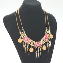 2016 Fashion maxi Statement Necklaces Pendants women Gypsy Vintage Choker Collar Ethnic bohemian necklaces women fine