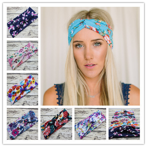 New Women Boho Turban Headband for Hair Accessories Fashion Floral Topknot Headband Stretch Tie Headwrap 10pcs/lot(China (Mainland))