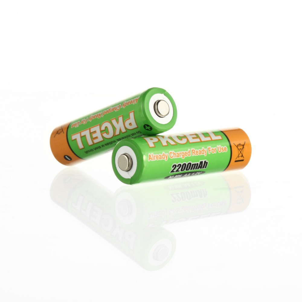 PKCELL AA 2200mAh NiMH Precharged Rechargeable Batteries 4 Pack 1 (3)