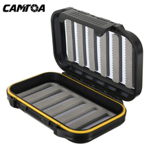 CAMTOA Durable ABS Plastic Foam Fly Fishing Tackle Lure Bait Hook Storage Case Cover Box Waterproof Fish accessories(China (Mainland))
