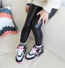 2 12year skinny black kid leather pants girl legging baby pants kid legging leggins girl pants