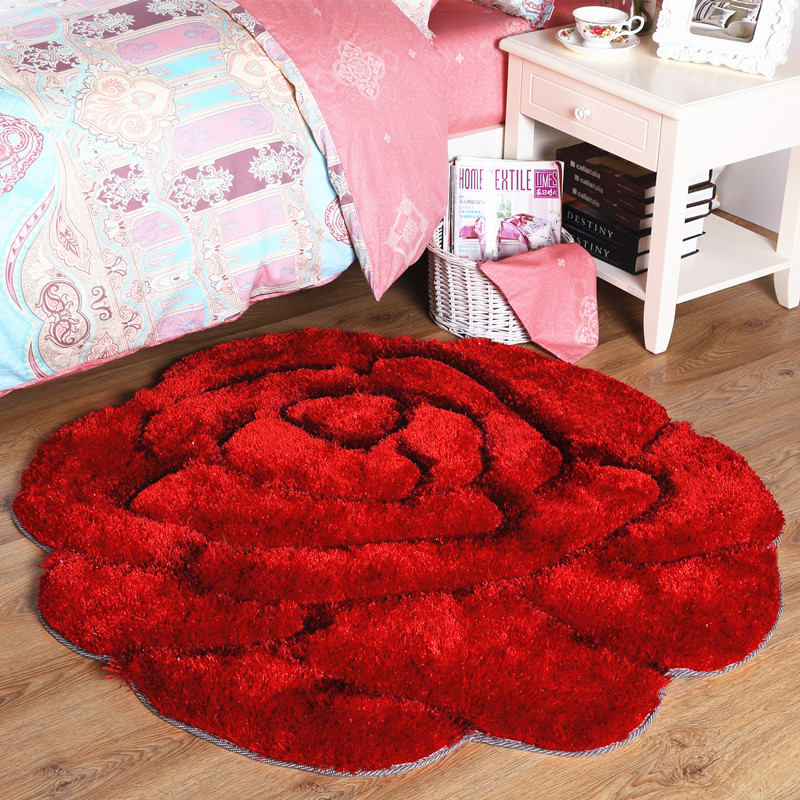 Rose Bedroom Carpet Living Room Coffee Table Bed Tatami Floor Mats Entrance Rug Soft