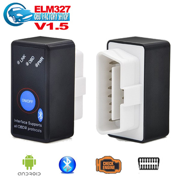 2015 Newest V1.5 A++ quality Super Mini ELM327 Bluetooth ELM 327 OBD II CAN-BUS Diagnostic Scanner TooLWith Switch