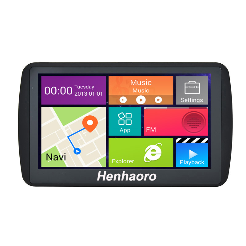 "Car GPS Navigation Android 7"" Capacitive touch screen Navigator Bluetooth Quad-core russia Navitel Europe map truck gps sat nav(China (Mainland))"