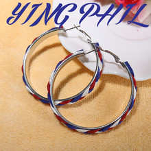 YINGPHIL  newcomer brand unique fashion punk generous silver big circle hoop earrings for women jewelry accessories wholesale(China (Mainland))