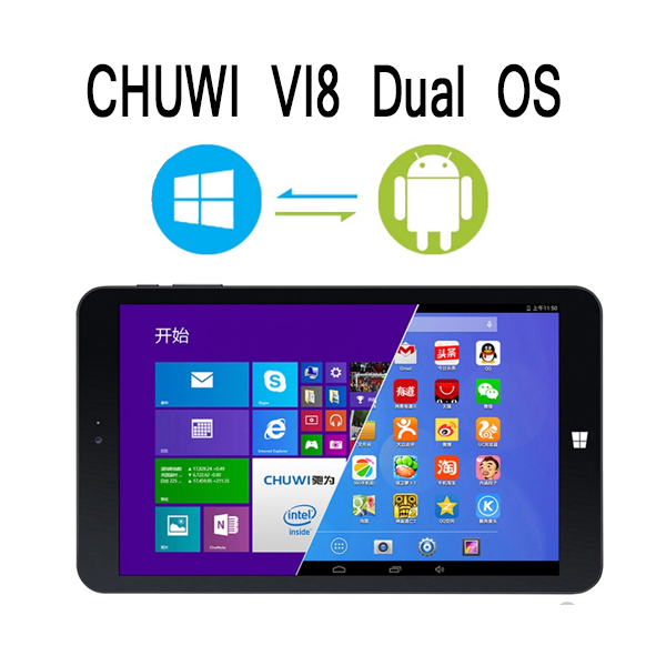 "8"" IPS CHUWI VI8 Dual Boot 2GB 32GB OS Windows 8.1 and Android 4.4 Intel Z3735F Bluetooth Multi Language tablet pc(China (Mainland))"