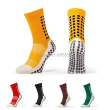Топ анти-слип Tocksox 1:1 Trusox футбол носки средний-икры хлопок футбольные гетры Calcetin de futbol Meias Calcetines бэйл ред сокс