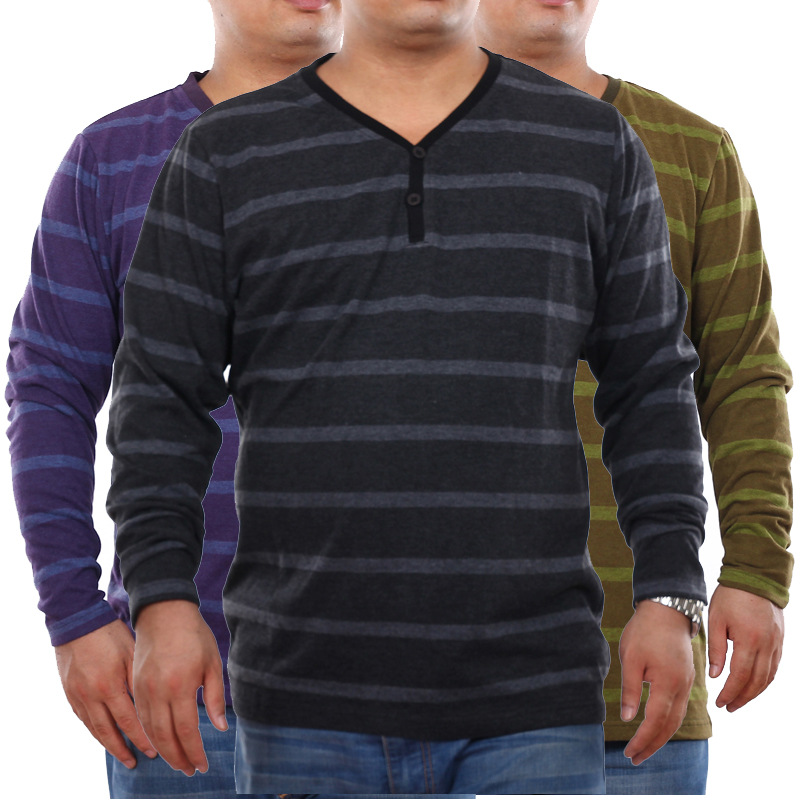 Xxxxxxl 6xl mens slim fit long sleeve v neck t shirt big for Mens slim fit long sleeve t shirts
