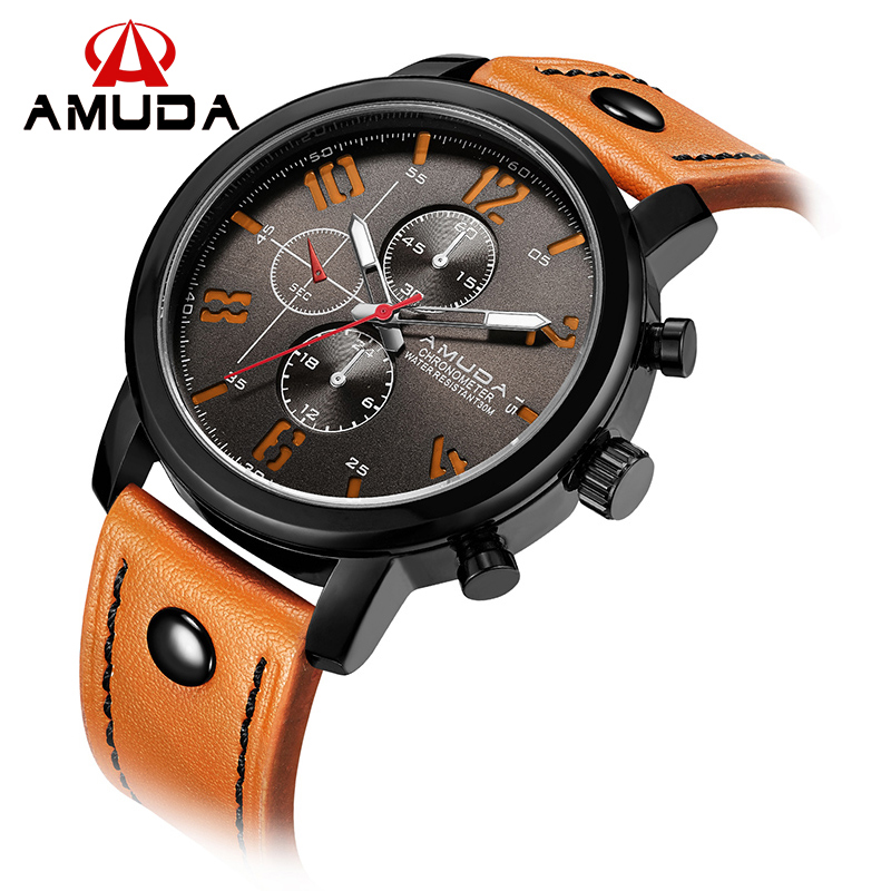 Fashion Brand AMUDA Watches Men 2016 Quartz-Watch Male Casual Analog Sports Wrist Watches Relogio Masculino Montre Homme(China (Mainland))