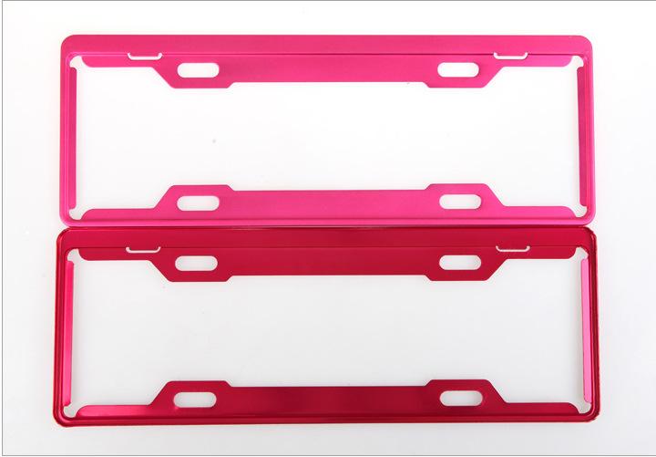 Magnesium Alloy Frame Plate Car Number License Plate Frame Holder framework Multi color optional(China (Mainland))