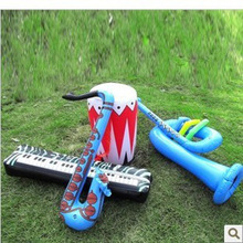 free shipping 8pcs Inflatable Stick Simulation Musical Instrument Inflatable Toy Electonic Organ Sax Horn Drum Children Toys(China (Mainland))