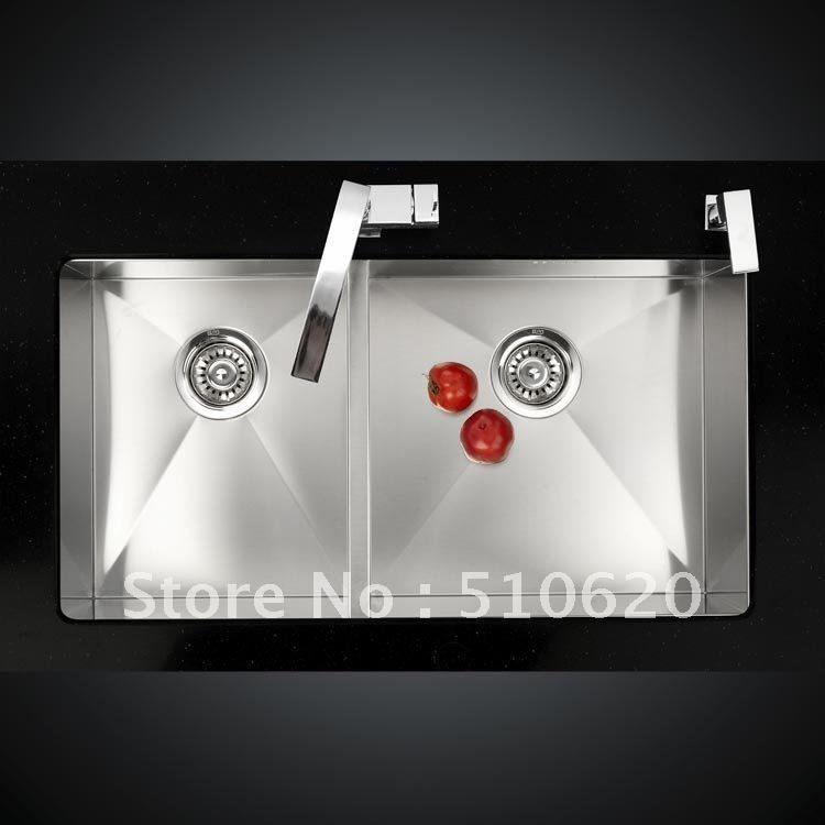 S218 Kitchen undermounted SUS304 stainless steel Double sink<br><br>Aliexpress