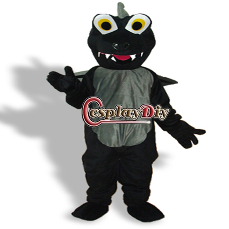 Hot Sale New Arrival Black Wings Dinosaur Plush Adults Animal Mascot Costume for Christmas(China (Mainland))