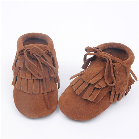 wholesale 50pairs lace-up Genuine Leather Baby Moccasins Double Tassel bow Baby soft Shoes First Walkers Anti-slip Infant Shoes<br><br>Aliexpress