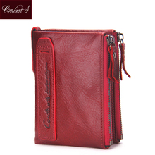 Buy 2016 Fashion Genuine Leather Women Wallets Bifold Wallet ID Card holder Coin Purse Pockets Clutch zipper Womens Wallet for $12.63 in AliExpress store