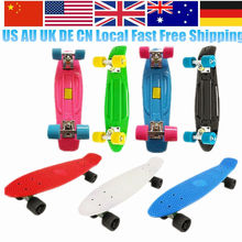 UK DE Local Stock Brand Skateboard 22 Skateboard Longboard Complete Boy Girl Retro Cruiser Skate Board