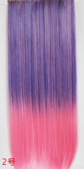 Assorted Colored Clip in Hair Extensions Set