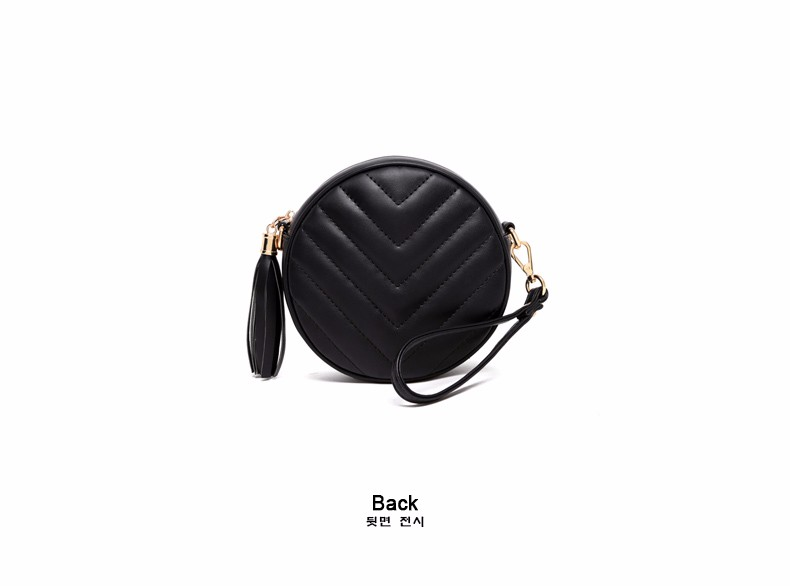 Small Circular Bag Women 2016 New Casual Chain Single Shoulder Tassel Plaid PU Shoulder Bag LadyJapan Style Cheap Crossbody