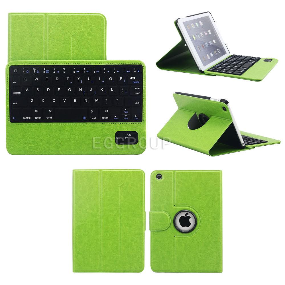 360 Degree Rotating Stander Leather Case with detachable bluetooth keyboard For Apple IPAD air air1 ipad5(China (Mainland))