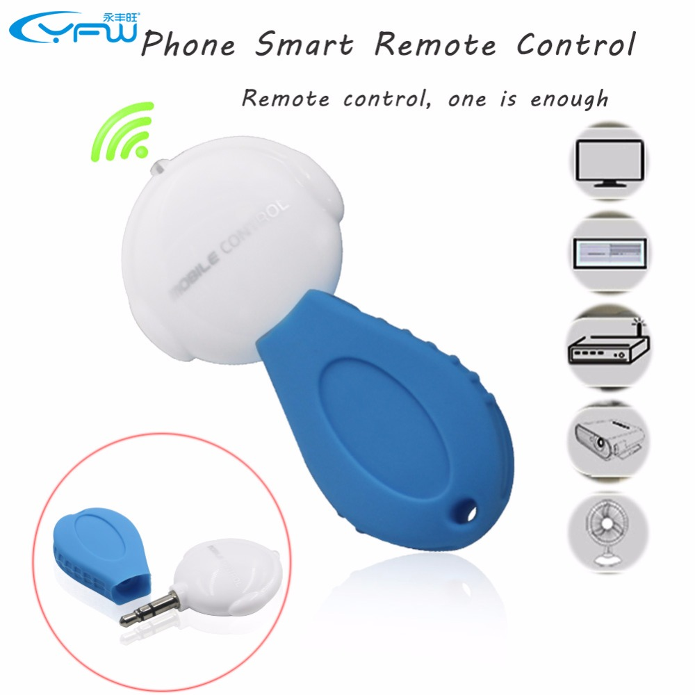 YFW 3.5mm Universal Phone Smart IR Remote Control Infrared Wireless Remote Control for TV DVD Air Conditioner(China (Mainland))