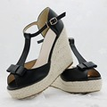 Superior Quality Summer style bowknot comfortable Bohemian Wedges Women sandals for Lady shoes high platform open