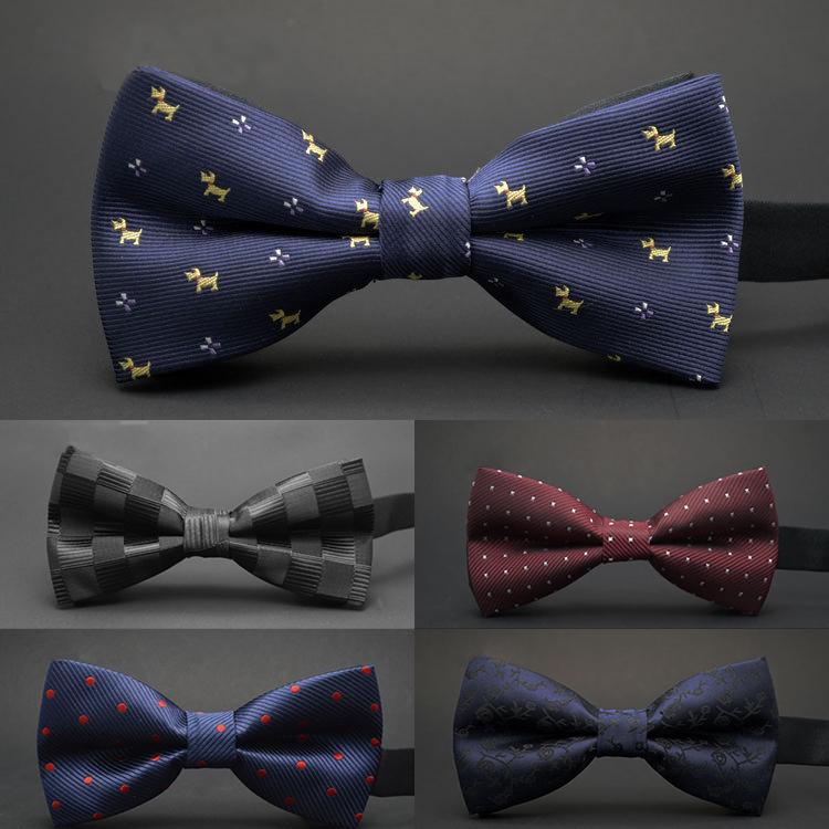 GUSLESON NEW Dot Bow Tie Wedding Bowtie Noeud Papillon Boys & Girls Polyester Silk Pajaritas Cravat Bowties Female Male Neckwear(China (Mainland))