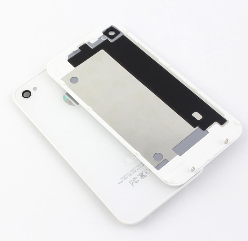 СN 10 шт/много высокого качества OEM задняя стеклянная Крышка батареи для iPhone 4 4G с оригинальным логотипом черный и белый цвет