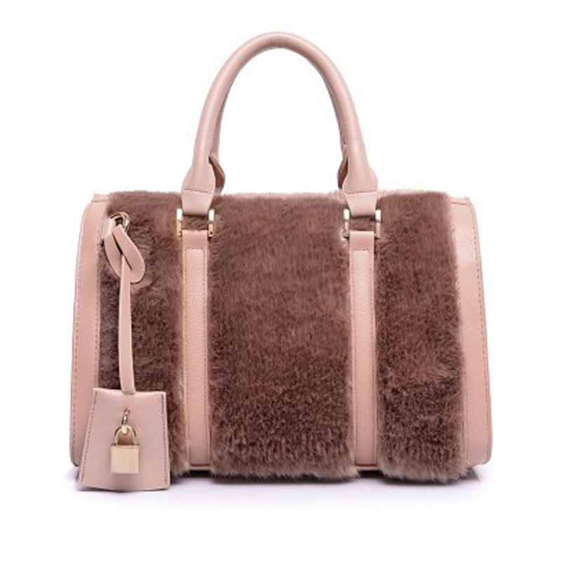 2015 Winter Women Fashion Designer Fur Leather Handbags High Quality Womens PU Leather Shoulder Bag Ladies Message Bags A171<br><br>Aliexpress