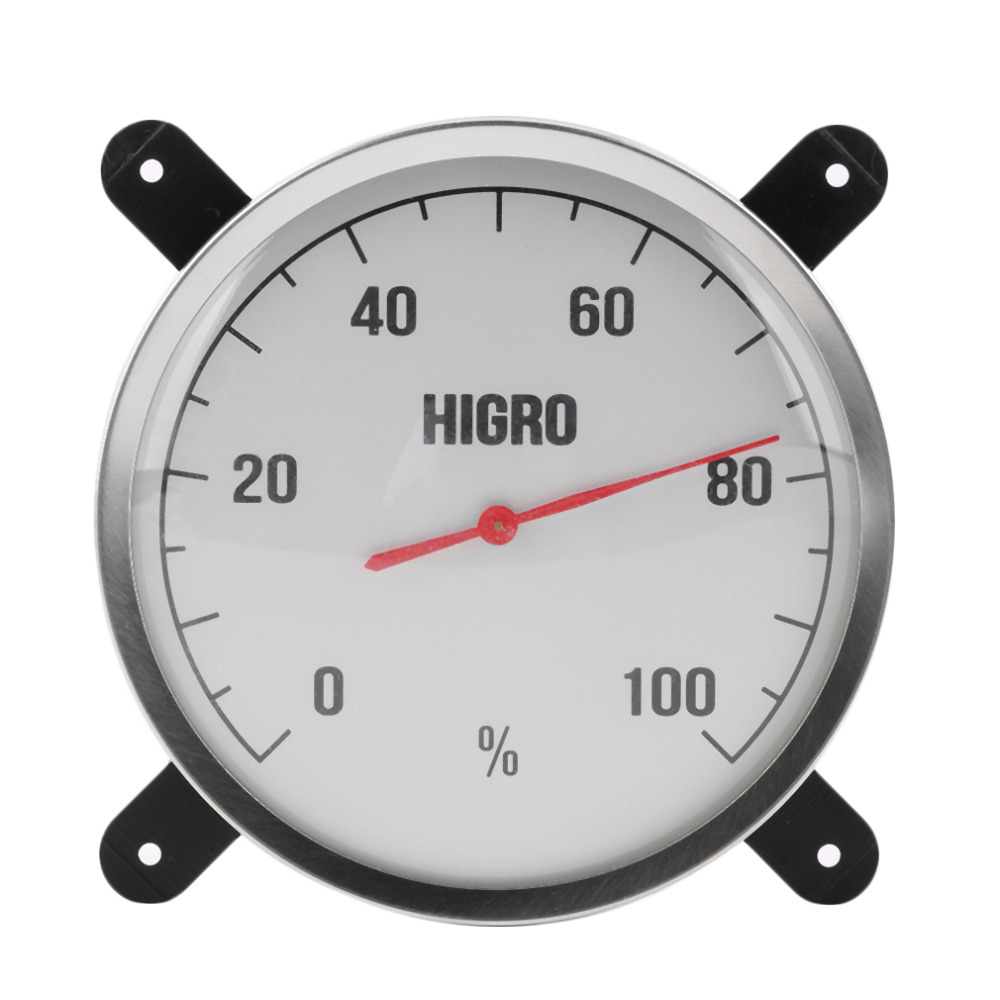 High Temperature measuring stainless steel Indoor Outdoor Thermometer Hygrometer sauna bath laboratory Weather Station use(China (Mainland))