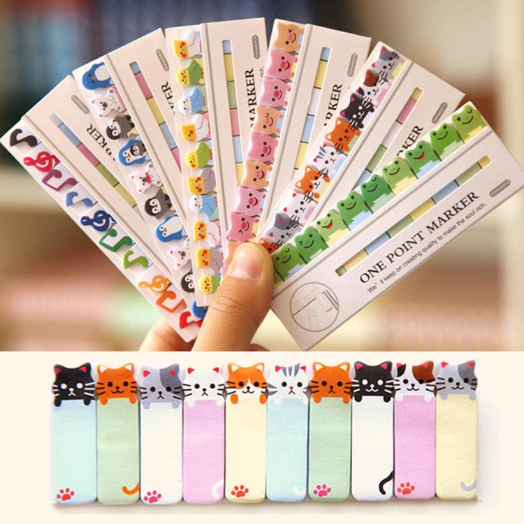 Kitty Style Mini Sticker Post It Sticky Notes Bookmark Notepad Office Supplies Free Shipping 150 Pages Color Random OSS-0094(China (Mainland))