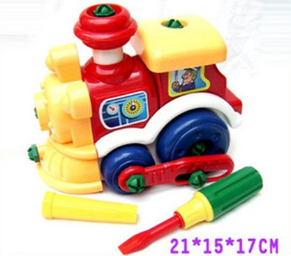 free shipping,dismountable assembly combined train model building kits railway engine locomotive,early educational children toys
