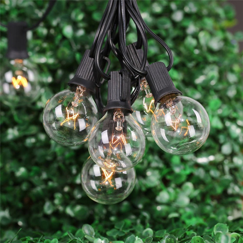 Globe Bulb String Lights Indoor : 25Ft Globe String Lights with 25 G40 Bulbs- Vintage Patio Garden Light string for Deco,Outdoor ...