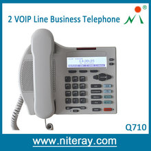 Hot Sell Vintage Internet VoIP Telephone / IP PHONE Support 2 Line Powered by PoE or Adapter For Business and Hotel