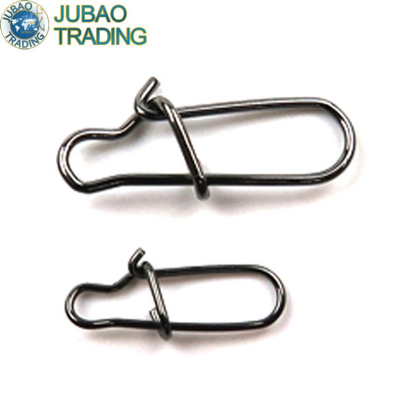 100pcs Hooked Snap Pin Stainless Steel Fishing Barrel Swivel Safety Snaps Hook Lure Accessories Connector Snap Pesca(China (Mainland))