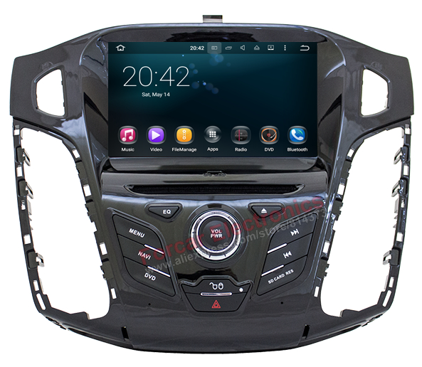 Quad core 1024x600 Android 5.1 Car Head Unit DVD GPS for Ford Focus 2011 2012 with BT Radio RDS Mirrior-Link Wifi 8GB Map card(China (Mainland))