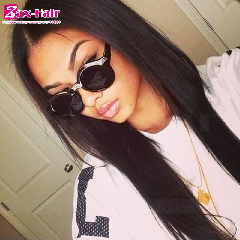 Фотография full lace human hair wigs natural hairline peruvian virgin full lace wigs wavy hot sale Grade 7a 100% human hair bleached knots