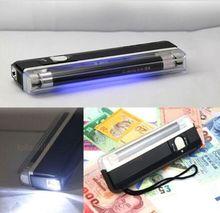 New 4w Mini Portable UV ultra violet black light lamp torch BANK NOTES Check free shipping(China (Mainland))