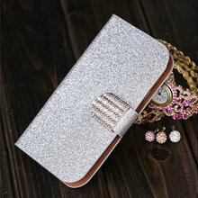 Shining Pattern Leather Cell Phone Cases Lenovo A5000 With Card Holder Case Free Shipping