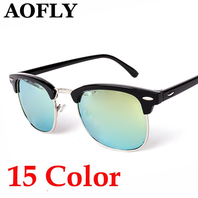 Wayfarer Clubmaster Half Metal Sunglasses Men Women Brand Designer Glasses G15 Coating Mirror Sun Glasses Fashion