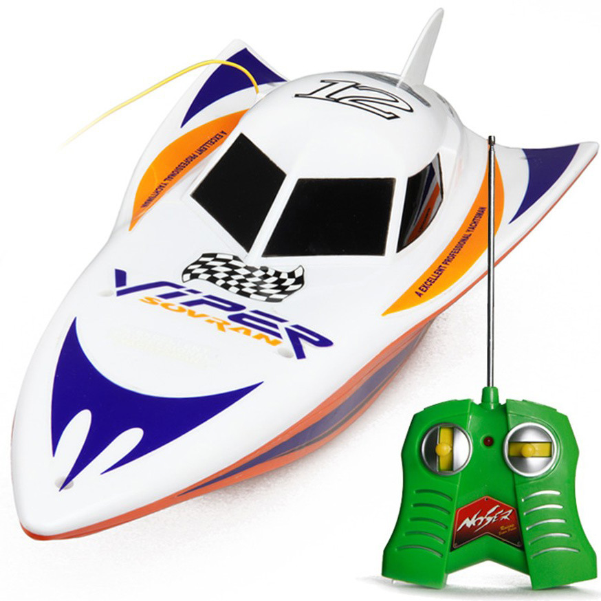 Plastic Boat Orange/Blue Rechargeable Remote Control Speed Boat Toys For Children/Kids A2022994(China (Mainland))